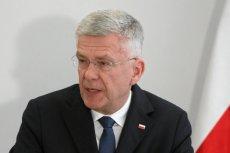 Były marszałek Senatu Stanisław Karczewski użył argumentu siły broniąc marszałek Sejmu Elżbiety Witek o anulowaniu nocnego głosowania ws. wyboru członków KRS.