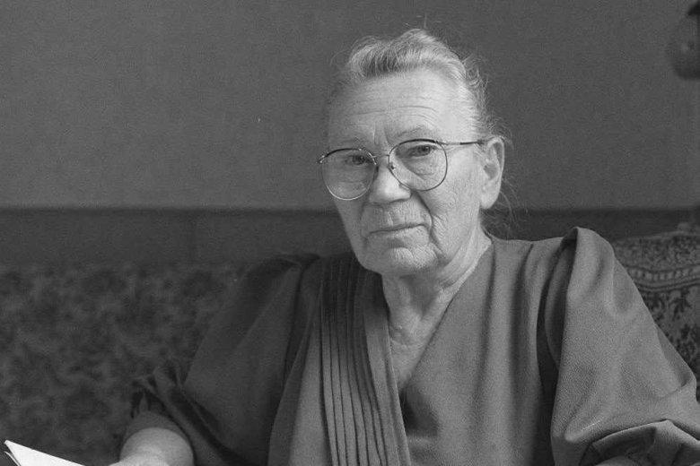 Anna Walentynowicz w swoim domu