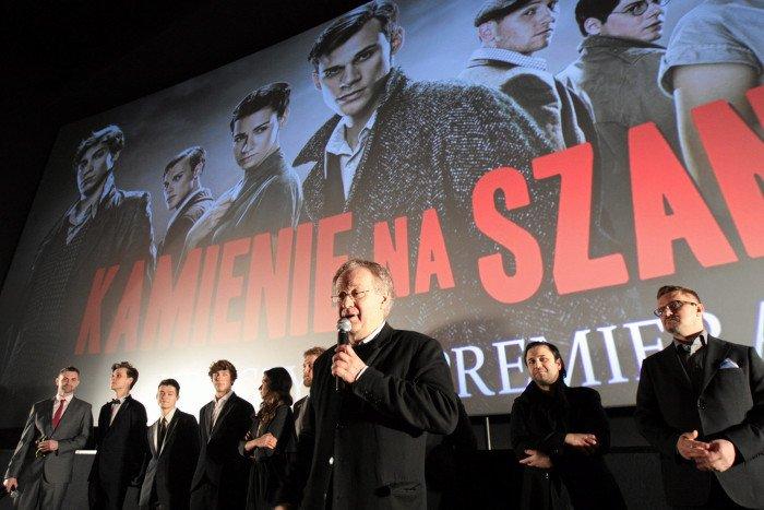 Robert Gliński podczas premiery, 2014 rok.