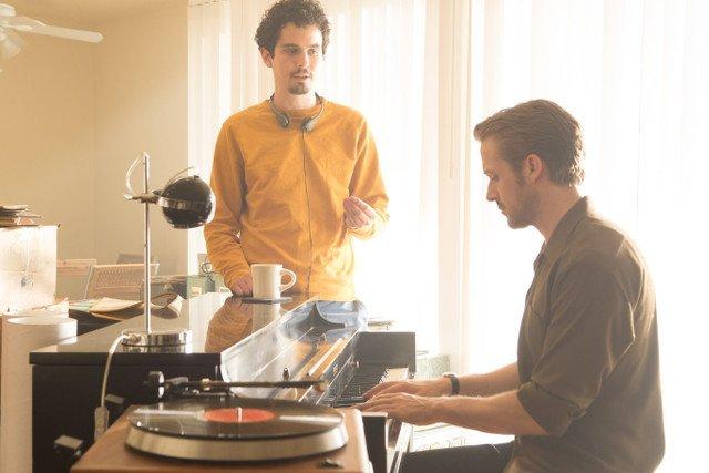 """Damien Chazelle i Ryan Gosling spotkali się na planie """"La La Land"""". Wkrótce rozpoczną prace nad filmem o Neilu Armstrongu."""