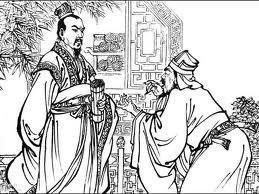 Mandaryn chiński przyjmujący petenta.
