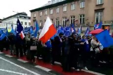 W Warszawie protestowali związkowcy z OPZZ.