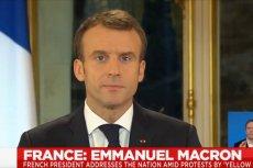 Prezydent Macron wreszcie przemówił do protestujących na ulicach Paryża i i innych wielkich miast.