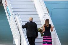 Donald Trump ma powody do zadowolenia. Załatwił w Warszawie co trzeba i odleciał do Hamburga.
