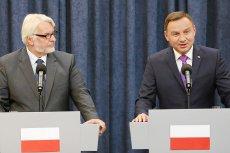 Andrzej Duda spełnił oczekiwania Witolda Waszczykowskiego. Wystarczyło, by szef MSZ publicznie zrugał prezydenta.