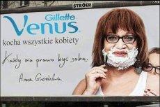 """""""Plakat"""" z Anną Grodzką w roli głównej"""