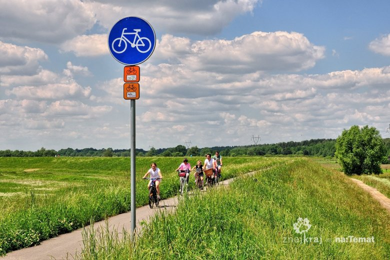 Wiślana Trasa Rowerowa koło Oświęcimia