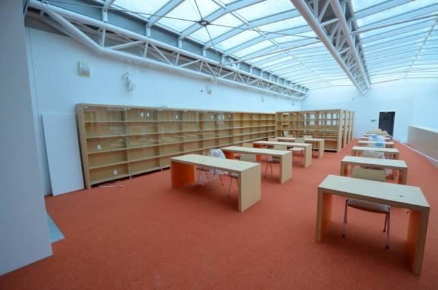 Biblioteka Publiczna na Koszykowej w Warszawie,  zdjęcia z placu budowy