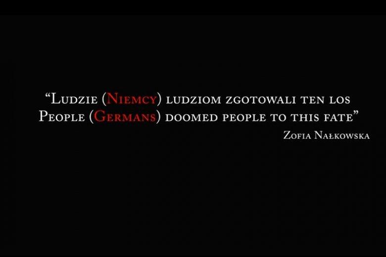 Nowa interpretacja cytatu z Zofii Nałkowskiej autorstwa IPN-u.