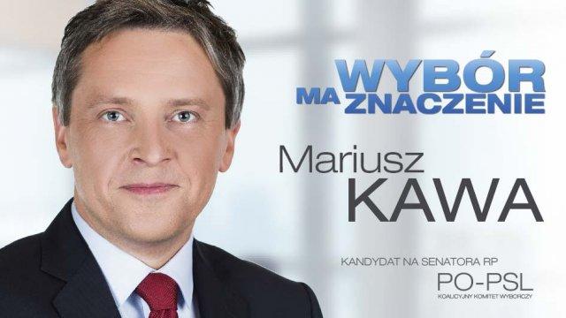 Mariusz Kawa, kandydat PO-PSL w wyborach uzupełniających do Senatu RP.