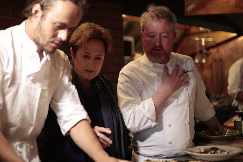 Alice Waters w kuchni Chez Panisse