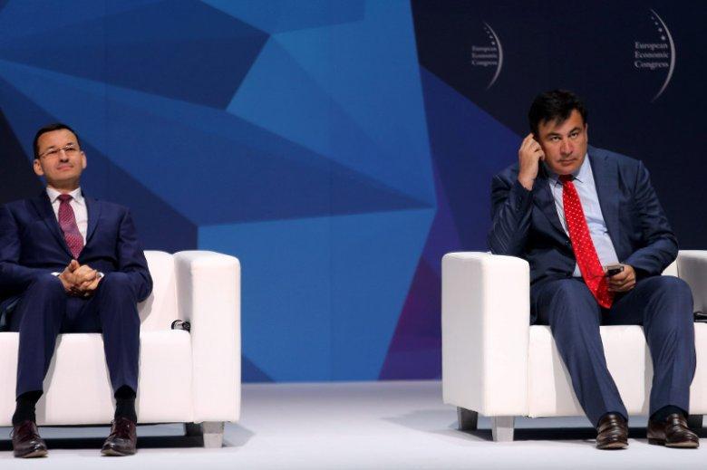"""Micheil Saakaszwili jest zapraszany na solony """"dobrej zmiany"""". W Kijowie wezwał do szturmu na Pałac Październikowy."""