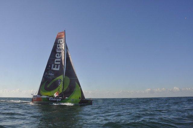 Jacht ENERGA i Gutek na wodzie  6.11.2012