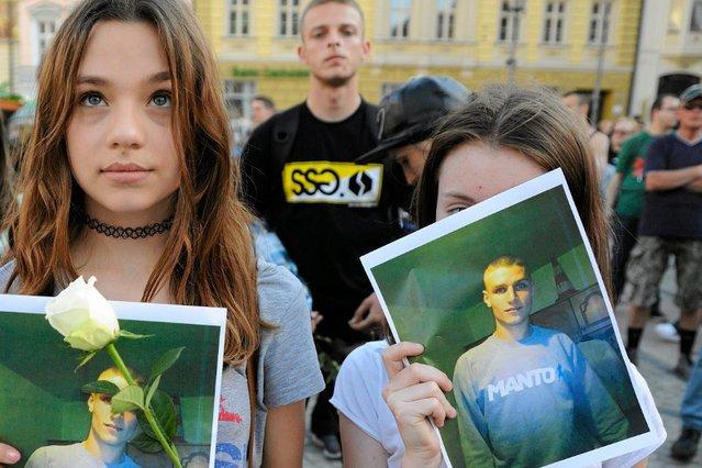 Po śmierci Igora Stachowiaka odbył się marsz sprzeciwu wobec brutalności policji.