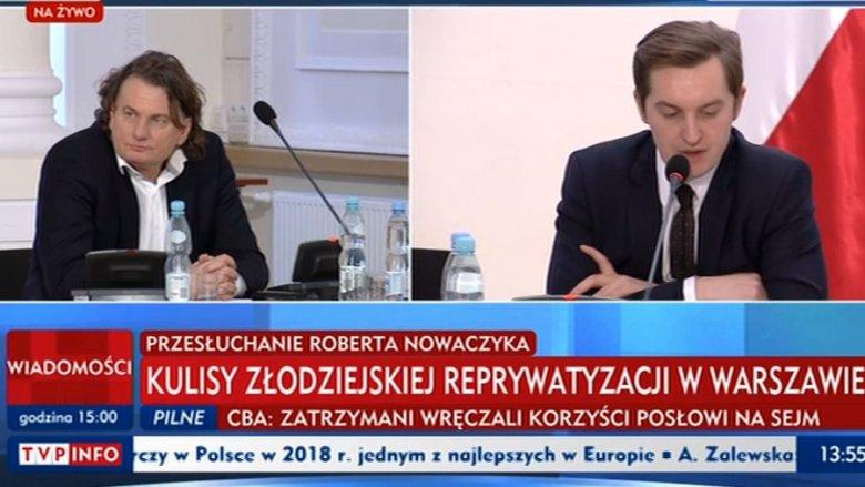 Robert Nowaczyk zeznawał przed komisją ds. reprywatyzacji