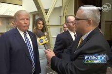 Dziennikarz TVN rozmawiał z Donaldem Trumpem. To spotkanie dowodzi, jak ważna w USA jest Polonia