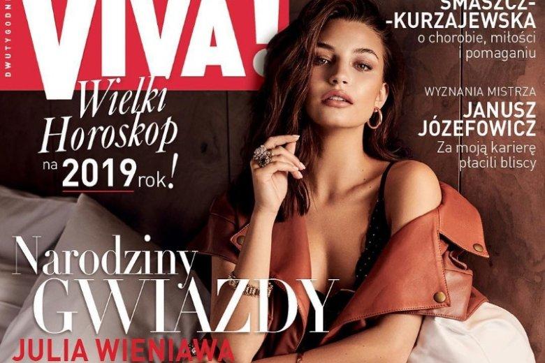Julia Wieniawa bohaterką nowego wydania popularnego dwutygodnika. W środku również obszerny wywiad