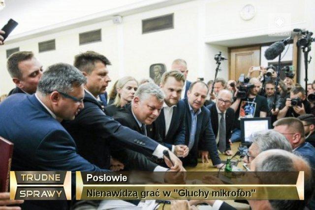 Stenogramy z ostatnich wydarzeń w Sejmie to kawał dobrej literatury.