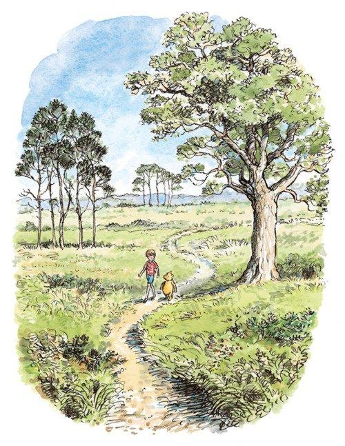 """Rysunek Edwarda Howarda Sheparda, który ilustrował brytyjskie wydanie """"Winnie The Pooh"""""""