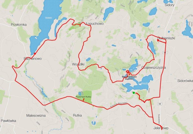 Pętla ma ok. 44 kilometrów i łączy w sobie kilka elementów z czterech wyznaczonych, ogólnodostępnych tras rowerowych na terenie SPK.
