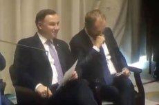 Rozmowa Donalda Tuska i Andrzeja Dudy była zaskakująco wesoła.