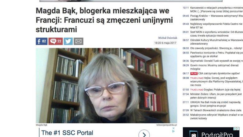 Magdalena Bąk - tak Telewizja Republika przedstawiła Anitę Zapłatkę.