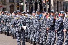 Funkcjonariusze jednostki OMON w Moskwie