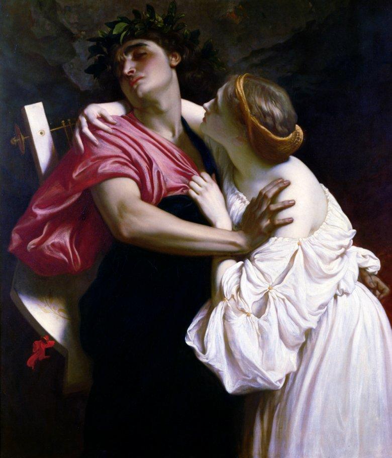 """Federic Leighton """"Orfeusz i Eurydyka"""" 1864"""