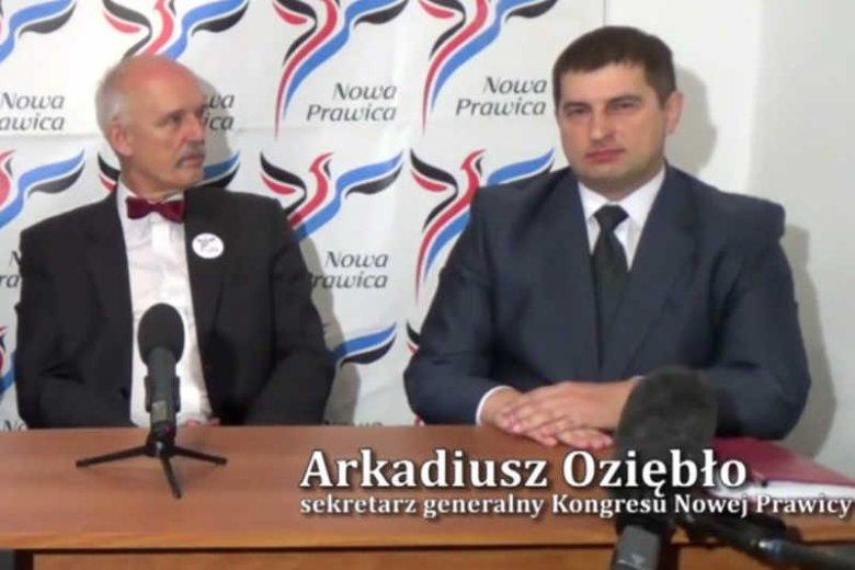 Na Arkadiuszu Oziębło, sekretarzu generalnym KNP, ciążą zarzuty za aferę finansową.