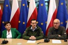 Centrum Zarządzania Kryzysowego, 24 maja: Beata Szydło, Mateusz Morawiecki, Joachim Brudziński.