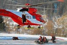 Śmiertelny wypadek w drodze na Rysy. Turysta najpewniej poślizgnął się na śniegu.