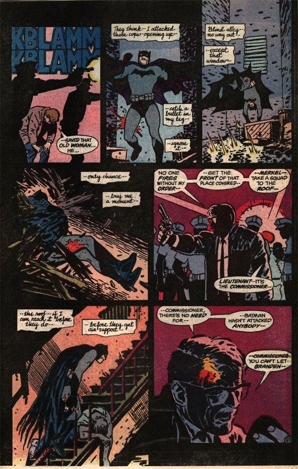 """kadr z komiksu """"Batman: Year One"""""""