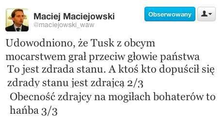 Twitter radnego Maciejowskiego