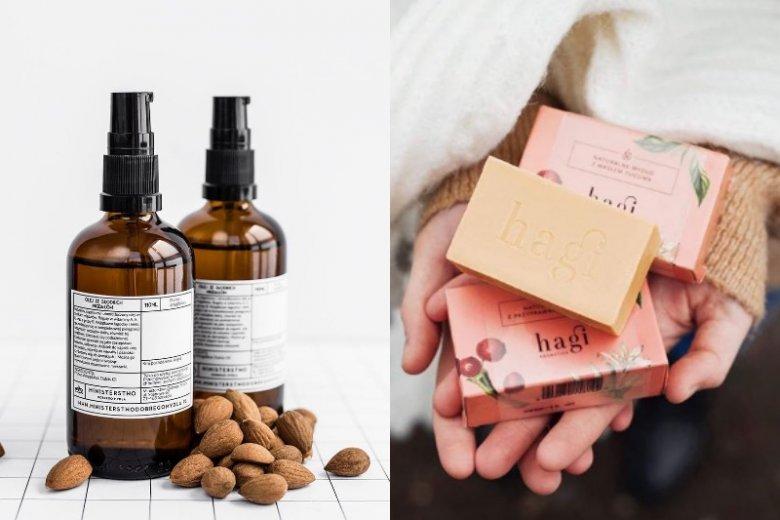 Takie kosmetyki chce się dostawać! (Naturalne mydełko Hagi to koszt 24 zł, a migdałowy olej z Ministerstwa Dobrego Mydła - 32 zł)