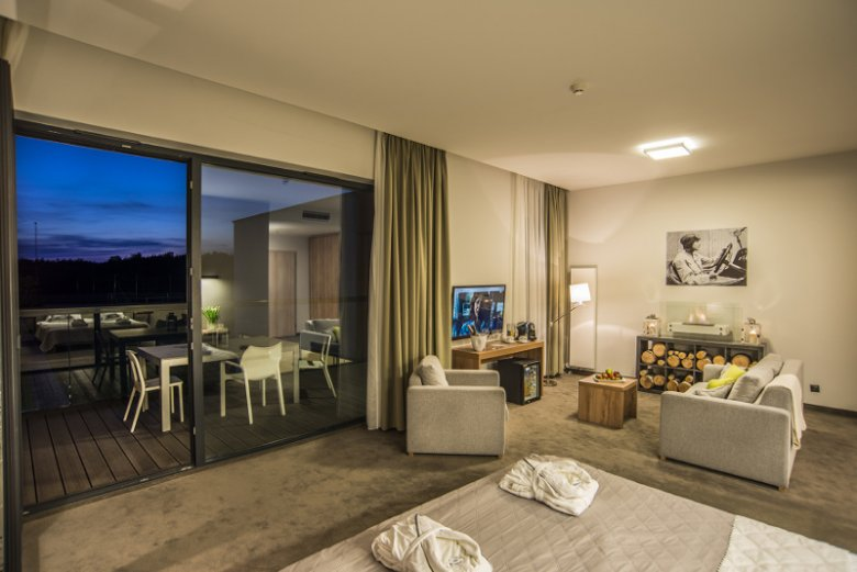 Jeden z pokoi, jaki można wynająć w hoteluBoniFaCio