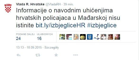Twitter rządu chorwackiego