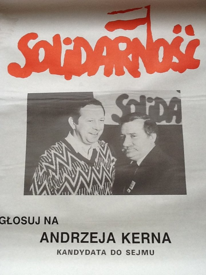 """""""Drużyna Wałęsy"""" Andrzej Kern kandydat do Sejmu RP 89r."""