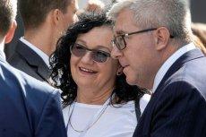 Anna Morawiecka na konwencji PiS we Wrocławiu obok europosła Ryszarda Czarneckiego.