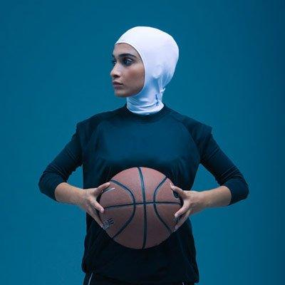 Hidżab w wersji sport.