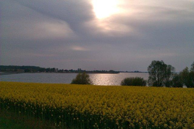 Zachód słońca nad lac du Der