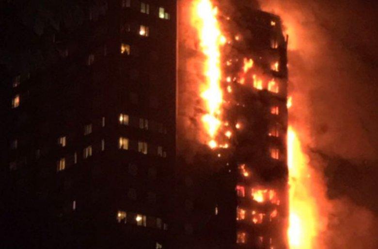 Pożar 27-piętrowego apartamentowca w Londynie