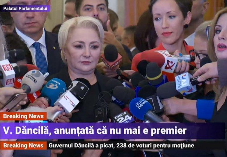 W Rumunii upadł rząd premier Vioricy Dancili.