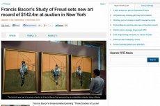 """""""Studium głowy Luciena Freuda"""" Francisa Bacona to najdroższy obraz w historii sprzedaży aukcyjnych. Czy da się wytłumaczyć, dlaczego właśnie on?"""