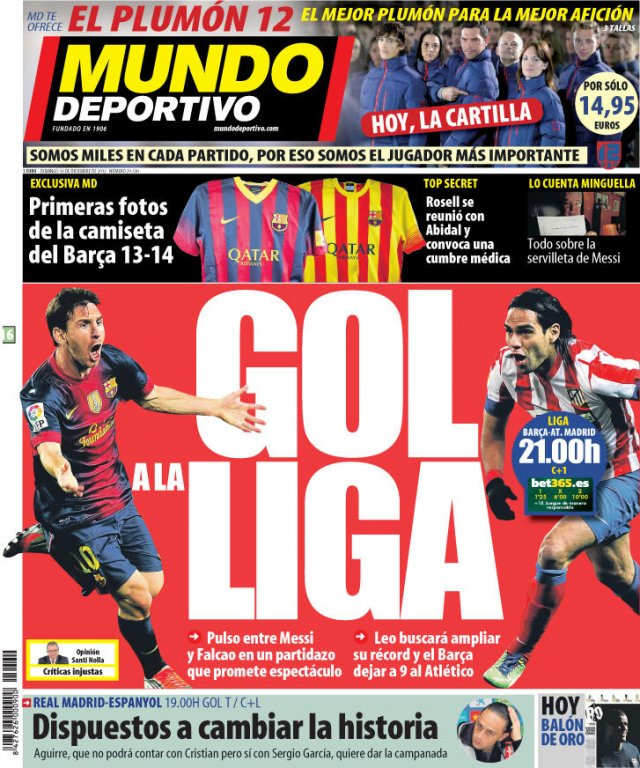 Mundo Deportivo - okładka 16/12/2012