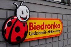 Logo Biedronki przed jednym z warszawskich sklepów