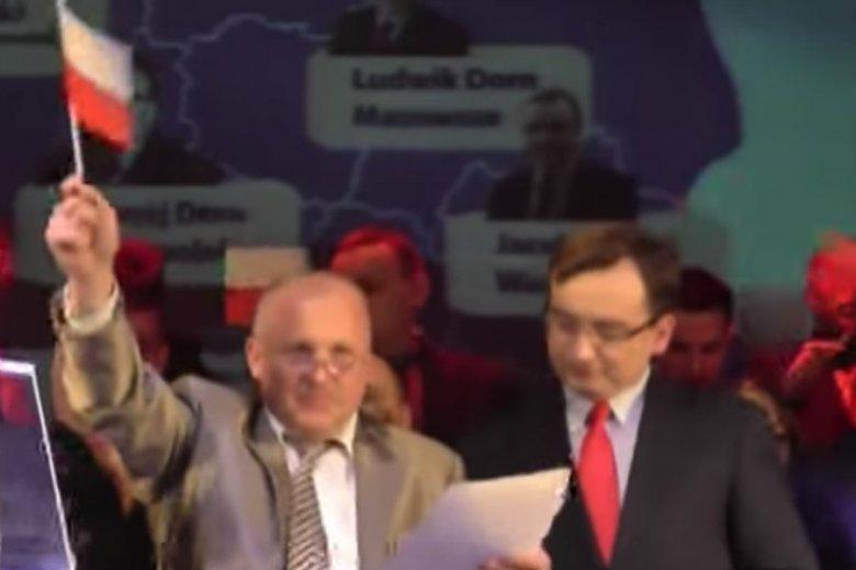 Piotr Rybak no eurokonwencji Solidarnej Polski.