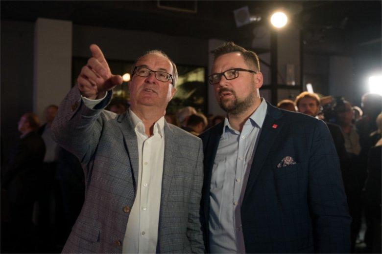 Szef SLD Włodzimierz Czarzasty i sekretarz generalny jego partii Marcin Kulasek.