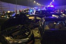 W karambolu pod Toruniem zderzyło się 8 aut w tym dwa rządowe BMW