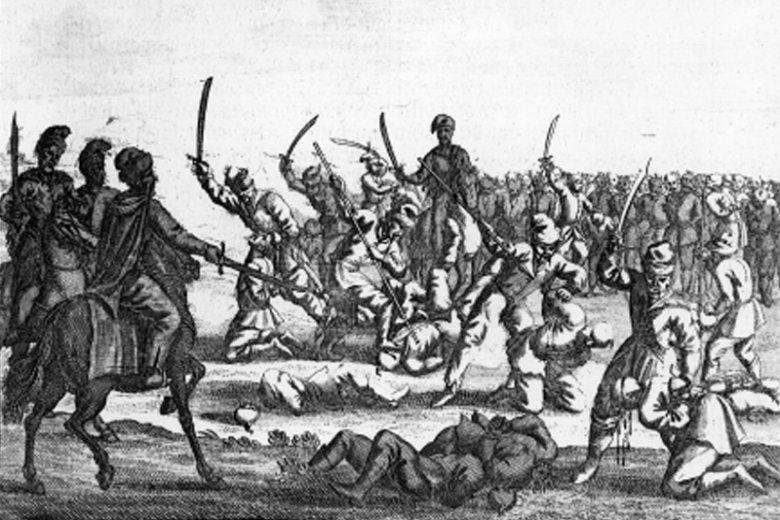 Masakra polskich jeńców pod Batohem w 1652 roku.