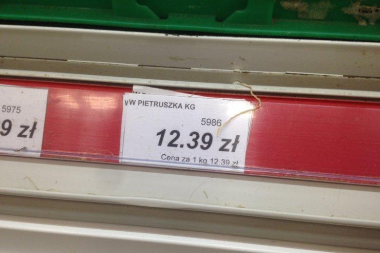 Ceny pietruszki są horrendalnie wysokie.